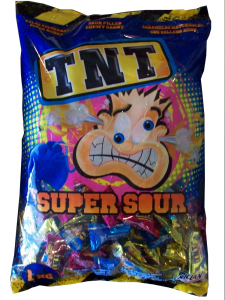 Bulk NZ Lollies - TNT Sour Chews Blue Tongue